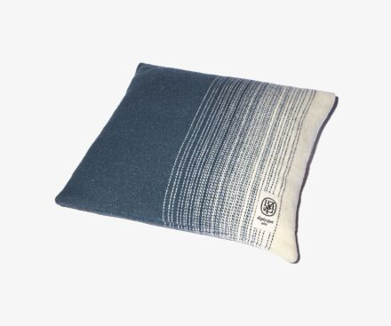 Square blue cushion
