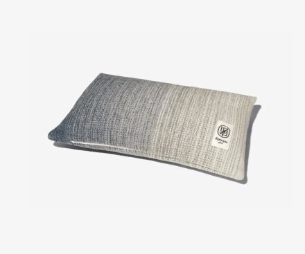 Rectangular grey cushion