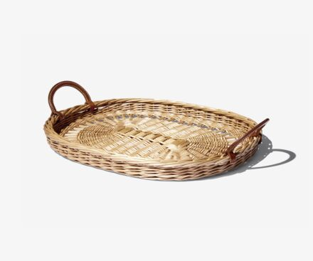 WICKER TRAY, SMALL MODEL