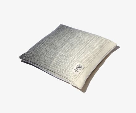 Square grey cushion