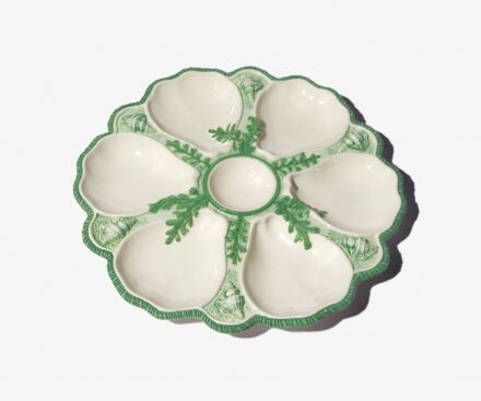Green oyster plate