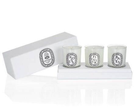 Set of Small candles (Berries, Fig Tree, Roses)