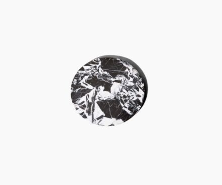 BLACK AND WHITE MARBLE LID FOR 190G CANDLE