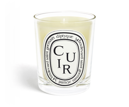Cuir / Leather candle 190g