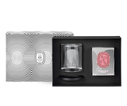 Limited Edition Roses Candle & Candle Holder Set
