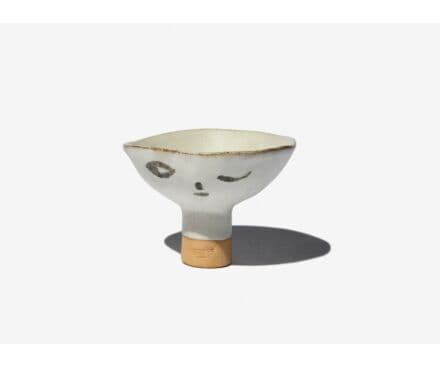 SMALL BOWL WITH A LONG NECK SMILE/WINK