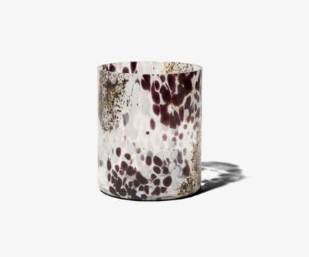 BLACK AND WHITE WHITE MACCHIA SU MACCHIA CANDLE HOLDER