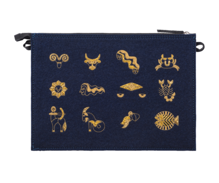 "POUCH ""12 SIGNS OF THE ZODIAC"""