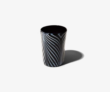BLACK/WHITE RIBBONS TUMBLER
