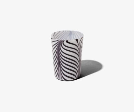 WHITE/BLACK RIBBONS TUMBLER
