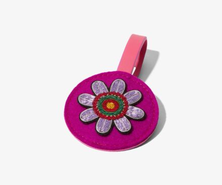 Passionflower luggage tag