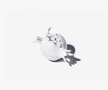 White ceramic pomegranate