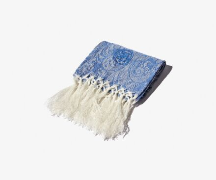 Blue Lys guest towel with fringes