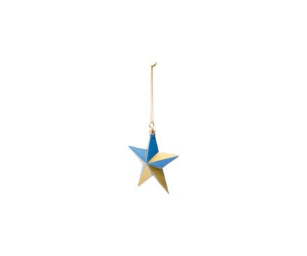 BLUE GOLD STAR ORNAMENT