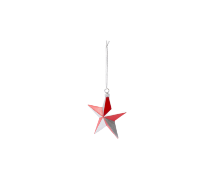 RED SILVER STAR ORNAMENT