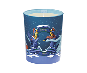 Amber Feather Candle