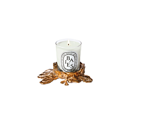 Candle holder gold small