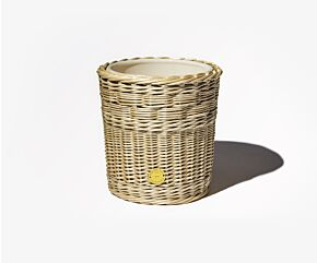 Wicker candle holder