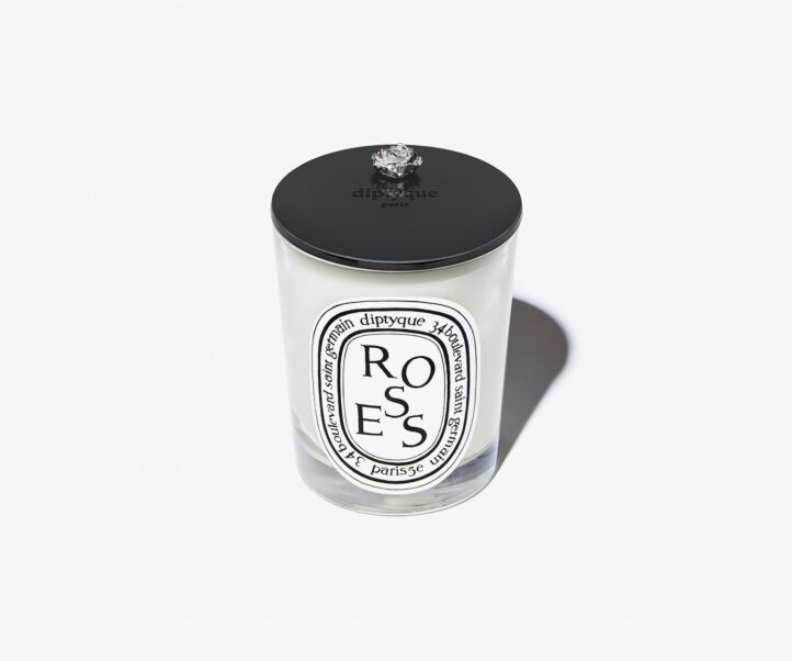 ROSE LID 190G CANDLE