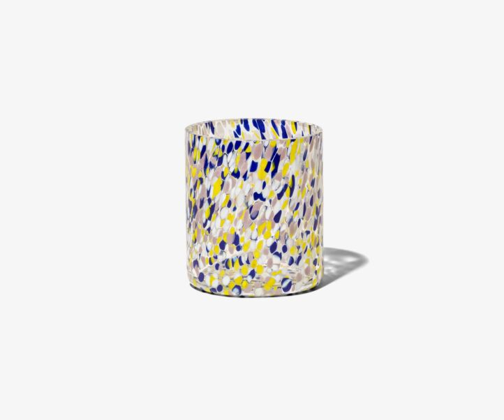 MURANO BLUE/YELLOW CANDLE HOLDER