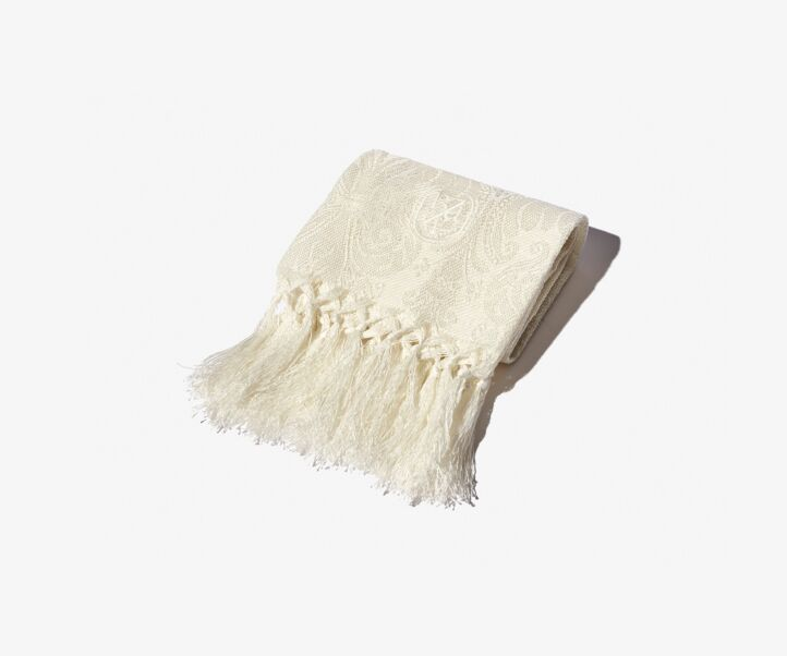 CREAM LYS GUEST TOWEL WITH FRINGES