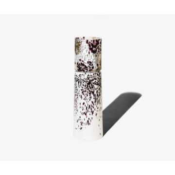 BLACK AND WHITE WHITE MACCHIA SU MACCHIA CANDLE HOLDER-VASE