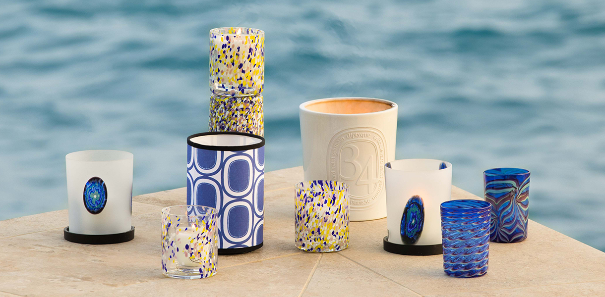 Visual of the diptyque candle shades